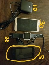 2 phones, fit but blaze/w charger, cache reader in Watertown, New York