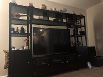 4 piece Black wood entertainment center in Fort Belvoir, Virginia