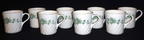 Like New! Corning Corelle Callaway Ivy Coffe / Tea Cups/Mugs in Naperville, Illinois