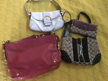 Coach Purses (lot of three purses and a wristlet) in Fort Sam Houston, Texas