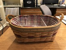 Longaberger Large Daily Blessings Basket (Autumn Reflections) with 2 Protectors and Liner in Naperville, Illinois