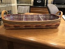 Longaberger Large Harvest Blessings Basket (Autumn Reflections) with 2 Protectors and Liner in Lockport, Illinois