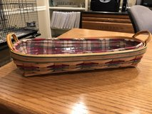 Longaberger Small Harvest Blessings Basket (Autumn Reflections) with Protector and Liner in Lockport, Illinois