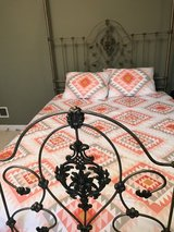 Queen Size Canopy Bed w mattresses in Orland Park, Illinois