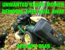 MOWER,ATV,MOTORCYCLE,TRACTOR REMOVAL in Byron, Georgia