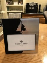 """New Christmas Frame Black & Silver with Christmas Tree - Holds 4"""" x 6"""" Photo in Naperville, Illinois"""