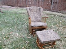Glider Chair with Ottoman in Alamogordo, New Mexico