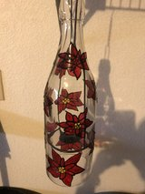 Poinsettia bottle candle in Alamogordo, New Mexico