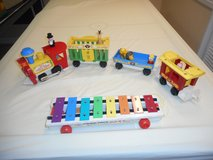 Pull toys-Vintage Fisher-Price Circus Train and FP Xylophone in Joliet, Illinois