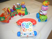 "Fisher Price pull toys and ""stacking"" tractor in Joliet, Illinois"