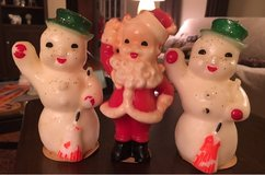 Vintage Santa/Snowmen Candles in Joliet, Illinois