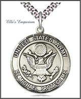 Handmade United States Army/St. Michael Protect Me Pewter Pendant - Choice of Curb Chain Length ... in Fort Campbell, Kentucky