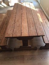 Amish built solid oak table/benches in Fort Leonard Wood, Missouri