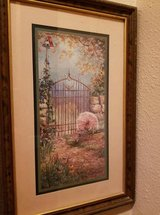 Vintage Home Interior Garden Wood Framed Picture in Beaumont, Texas