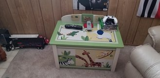 Kid toy chest, garbage can and lamp in Plainfield, Illinois