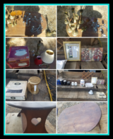 Brass Candle Holders,Dishes, Pictures Light Fixture in DeRidder, Louisiana