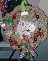 Burlap 22 in Christmas Wreath in The Woodlands, Texas