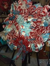 30 In Blue & Red Christmas Wreath in The Woodlands, Texas