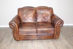 Brown Leather Loveseat- Very Comfortable in Tomball, Texas
