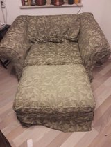 Single couch with ottoman in Ramstein, Germany