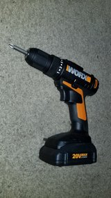 Worx Compact Drill/ Weed Whacker + 2 Batteries + Charger in Aurora, Illinois