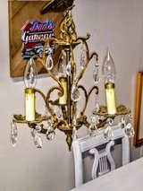 "Petite ( 13"" Dia) Antique crystal Chandelier in Cherry Point, North Carolina"
