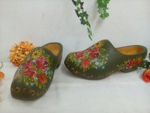 Wooden shoes farmhoue handpainted Clogs unique decoration 35 cm long in Wiesbaden, GE