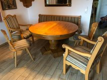 French dining table and Voglauer chairs, solid wood. in Grafenwoehr, GE