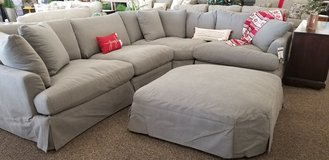 5 PIECE SLIP COVER SECTIONAL. SO COMFY! in Cherry Point, North Carolina