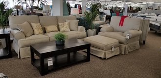 BRING STYLE TO YOUR HOME WITH THIS STYLISH AND OH SO COMFORTABLE SLIP COVER SOFA! in Cherry Point, North Carolina