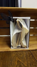 Folded Book Art 'Hare' in Lakenheath, UK