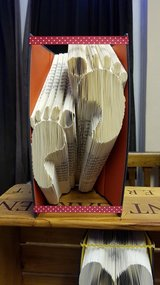 Folded Book Art 'Baby Feet' in Lakenheath, UK