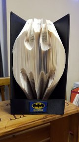 Folded Book Art 'Batman' in Lakenheath, UK