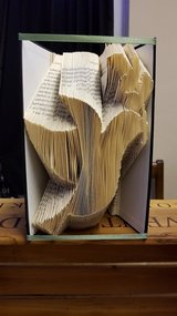 Folded Book Art 'Dove' in Lakenheath, UK