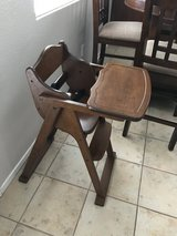 High chair in Camp Pendleton, California