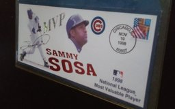 1998 OFFICIAL SAMMY SOSA MVP. COMMEMORATIVE ENEVELOPE in Shorewood, Illinois