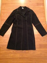 Women's Cache black overcoat trench dress coat size 10 in Camp Lejeune, North Carolina