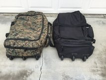 Deployment bags in 29 Palms, California