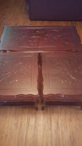 Good Condition Rosewood 1 Coffee Table & 2 End Table in Okinawa, Japan