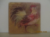 Rooster Small Tempered Glass Cutting Board in Chicago, Illinois
