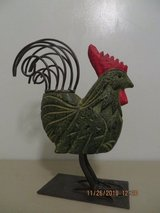 Modern Take on Cast Iron Rooster Statue/ Door Stop/ Garden Ornament in Joliet, Illinois
