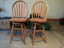 2 oak swivel bar stools in Westmont, Illinois