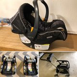 Chico KeyFit 30 Infant Car Seat / 2 bases / KeyFit Caddy Stroller in Ramstein, Germany