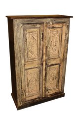 Antique Vintage Cabinet Original Hand Carving Storage Armoire Interior Design in Birmingham, Alabama