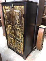 Authentic Antique Cabinet Armoire Brown Storage Indian Hand Carved Furniture in Birmingham, Alabama