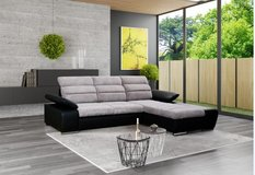 United Furniture - Venice Sectional with Bed  - Storage Chaise  ( different colors & materials) in Spangdahlem, Germany