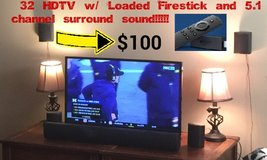 "32"" HDTV Loaded Firestick & 5.1 Surround System in Elizabethtown, Kentucky"