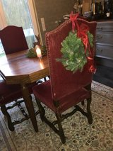 4 beautiful antique french red velvet chairs in Ramstein, Germany