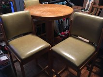 Oak bar table and 3 chairs in Fort Leonard Wood, Missouri