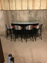 Bar with (4) bar stools in Bartlett, Illinois